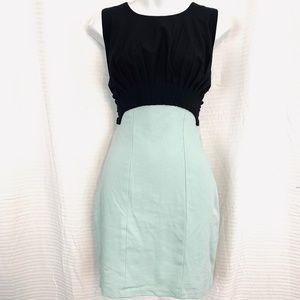 ARDEN B Green & Black Mini Sleeveless Dress sz M